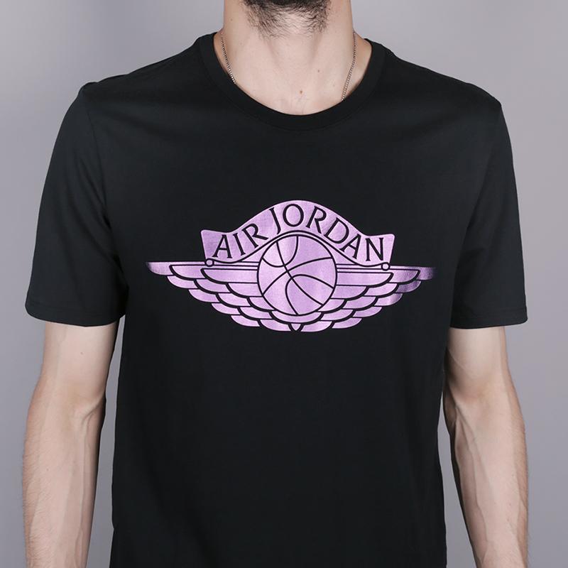 мужскую чёрную  футболка jordan brand 3 AA1903-010 - цена, описание, фото 2