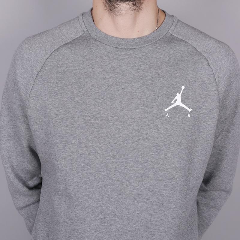 мужскую серую  толстовка jordan jumpman fleece 940170-091 - цена, описание, фото 2