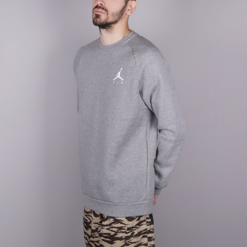 мужскую серую  толстовка jordan jumpman fleece 940170-091 - цена, описание, фото 3