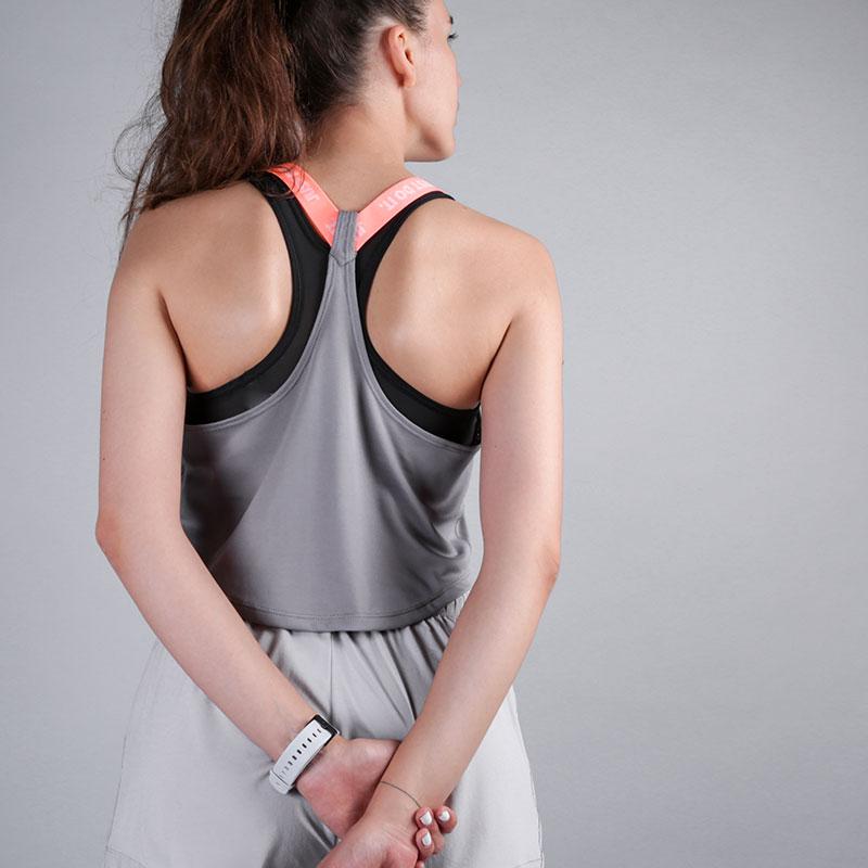 женскую серую  майку nike dri-fit elastika 898253-036 - цена, описание, фото 2