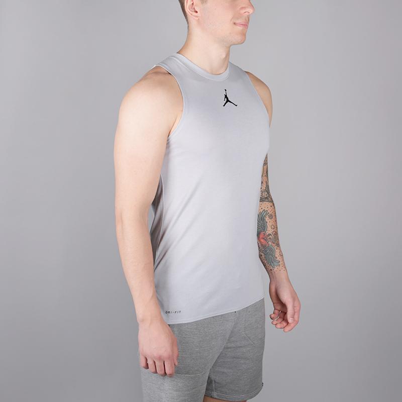 0d5feb5dc мужскую серую безрукавку jordan 23 alpha men's sleeveless training top  892071-012 - цена,