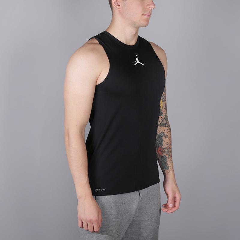 cbe4966f9 мужскую чёрную безрукавку jordan 23 alpha men's sleeveless training top  892071-010 - цена,