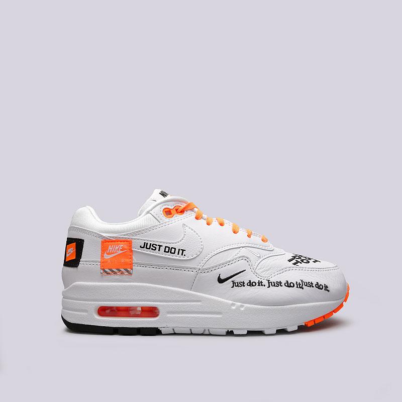 bc680b0a женские белые, оранжевые кроссовки nike wmns air max 1 lx 917691-100 - цена
