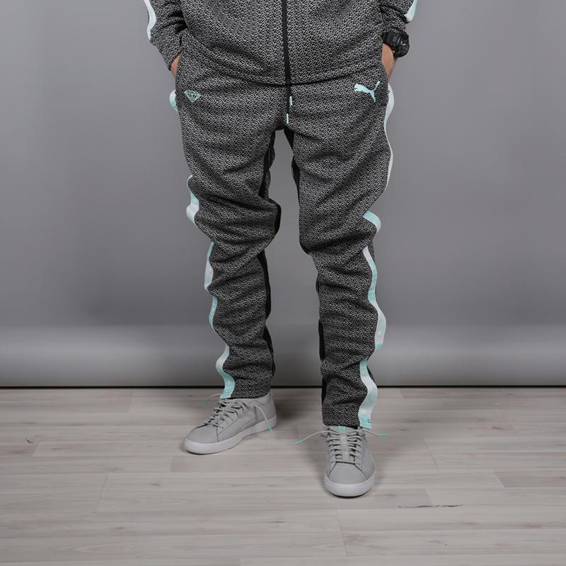 мужские чёрные  брюки puma x diamond 57536101 - цена, описание, фото 1