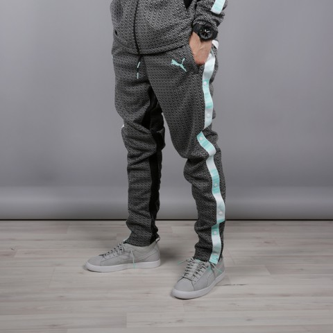 мужские чёрные  брюки puma x diamond 57536101 - цена, описание, фото 2