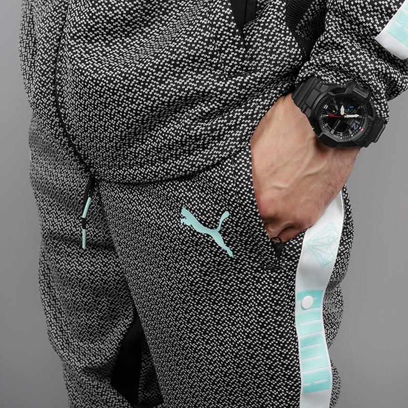 мужские чёрные  брюки puma x diamond 57536101 - цена, описание, фото 4