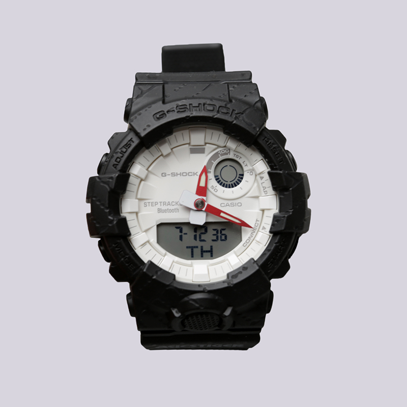чёрные  часы casio g-shock x asics tiger GBA-800AT-1A - цена, описание, фото 1