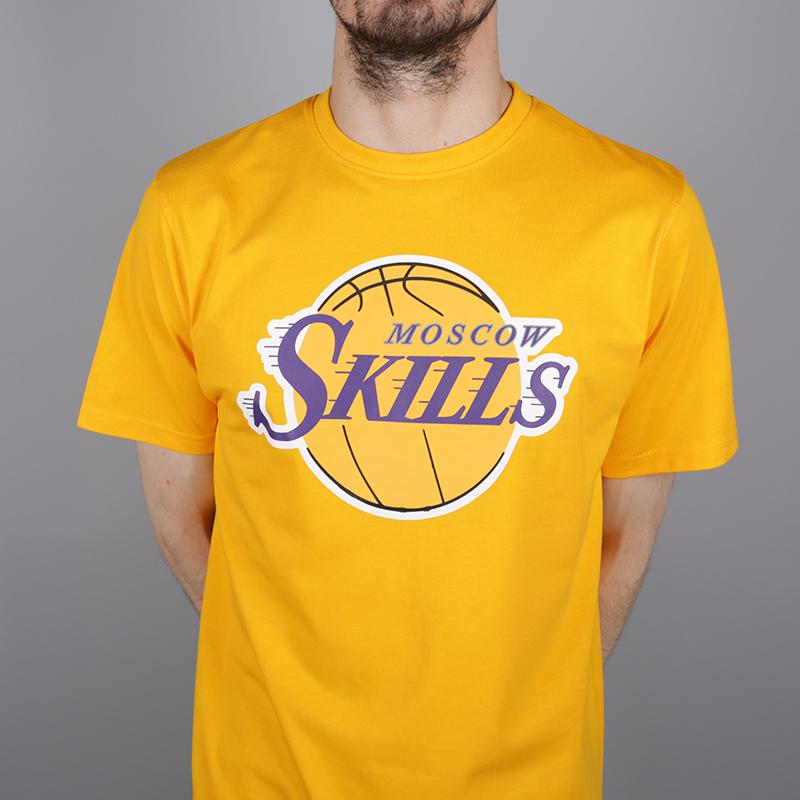 мужскую жёлтую  футболка skills la Los Angeles gold - цена, описание, фото 2