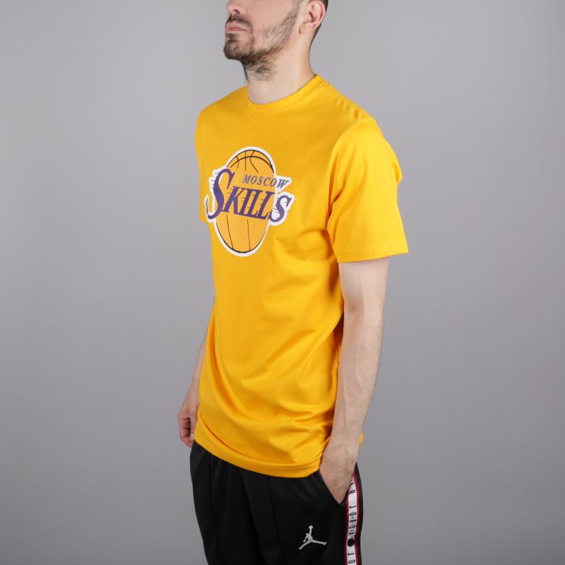 мужскую жёлтую  футболка skills la Los Angeles gold - цена, описание, фото 3