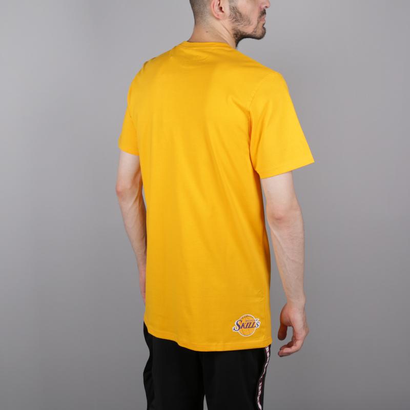 мужскую жёлтую  футболка skills la Los Angeles gold - цена, описание, фото 4
