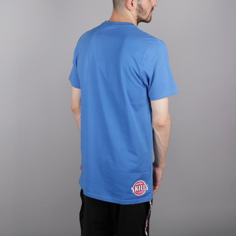 мужскую синюю  футболка skills detroit Detroit Strong Blue - цена, описание, фото 4