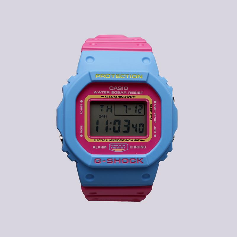 голубые, розовые  часы casio g-shock dw-5600tb DW-5600TB-4B - цена, описание, фото 1