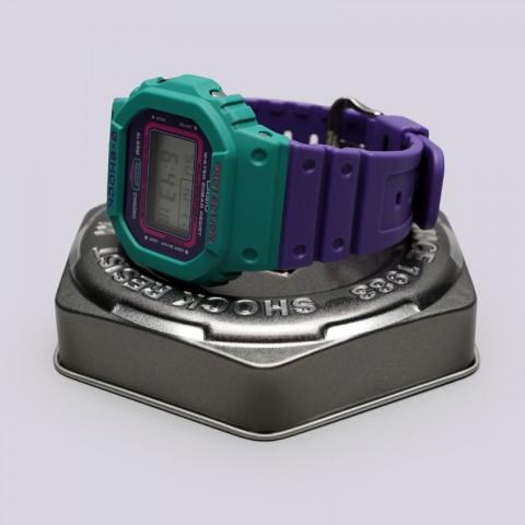 голубые, фиолетовые  часы casio g-shock dw-5600tb DW-5600TB-6E - цена, описание, фото 2