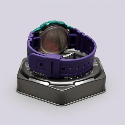 голубые, фиолетовые  часы casio g-shock dw-5600tb DW-5600TB-6E - цена, описание, фото 3
