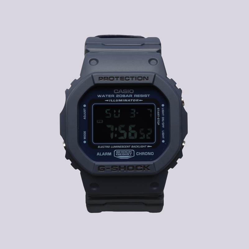 синие  часы casio g-shock dw-5600lu DW-5600LU-2E - цена, описание, фото 1