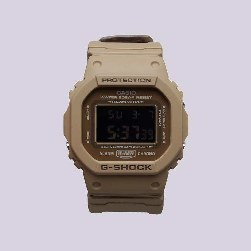 бежевые  часы casio g-shock dw-5600lu DW-5600LU-8E - цена, описание, фото 1
