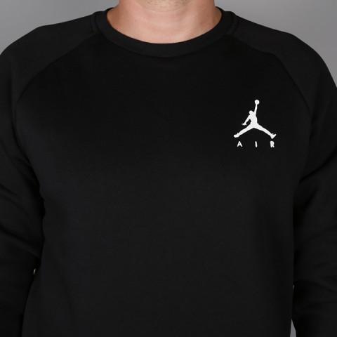 мужскую чёрную  толстовка jordan jumpman air fleece 940170-010 - цена, описание, фото 2