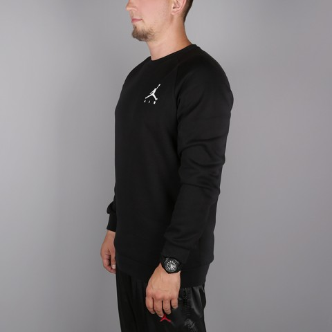 мужскую чёрную  толстовка jordan jumpman air fleece 940170-010 - цена, описание, фото 3