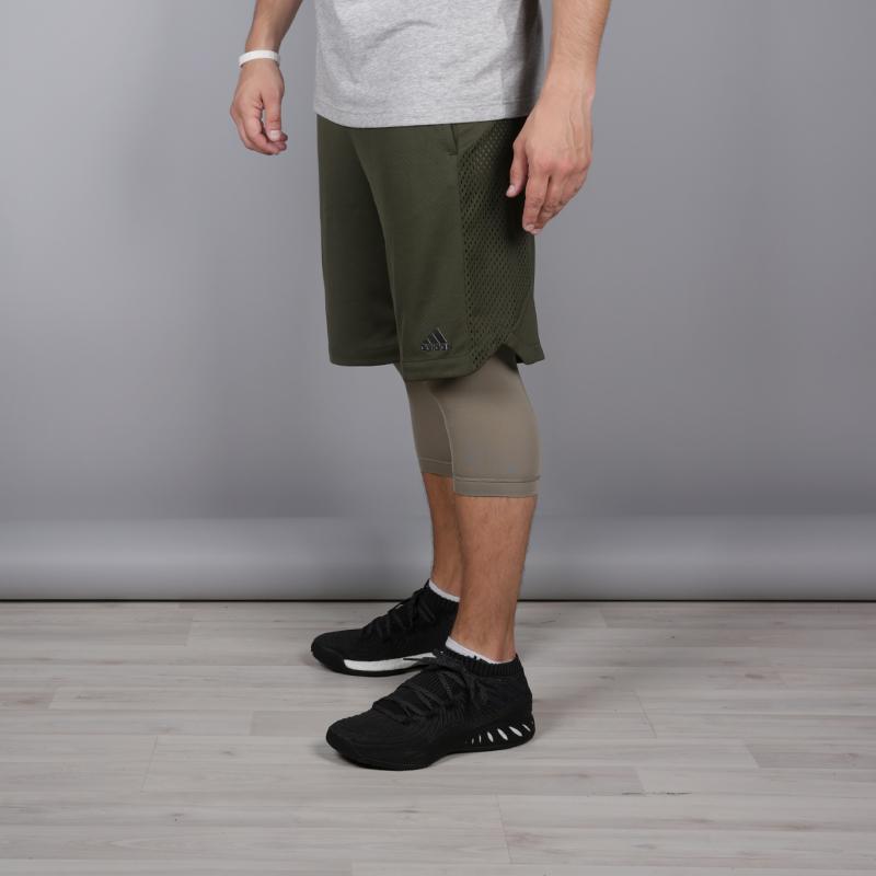 мужские зелёные  шорты adidas elec 2/1 short CE8746 - цена, описание, фото 2