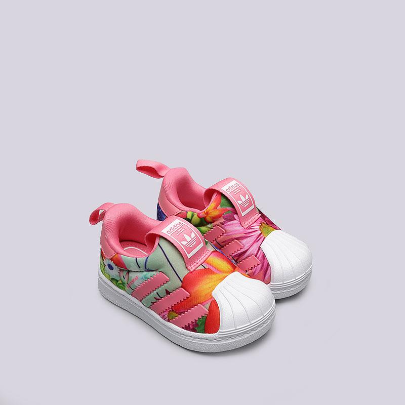 6187431c детские розовые, белые кроссовки adidas seperstar 360 i CQ2578 - цена,  описание, фото