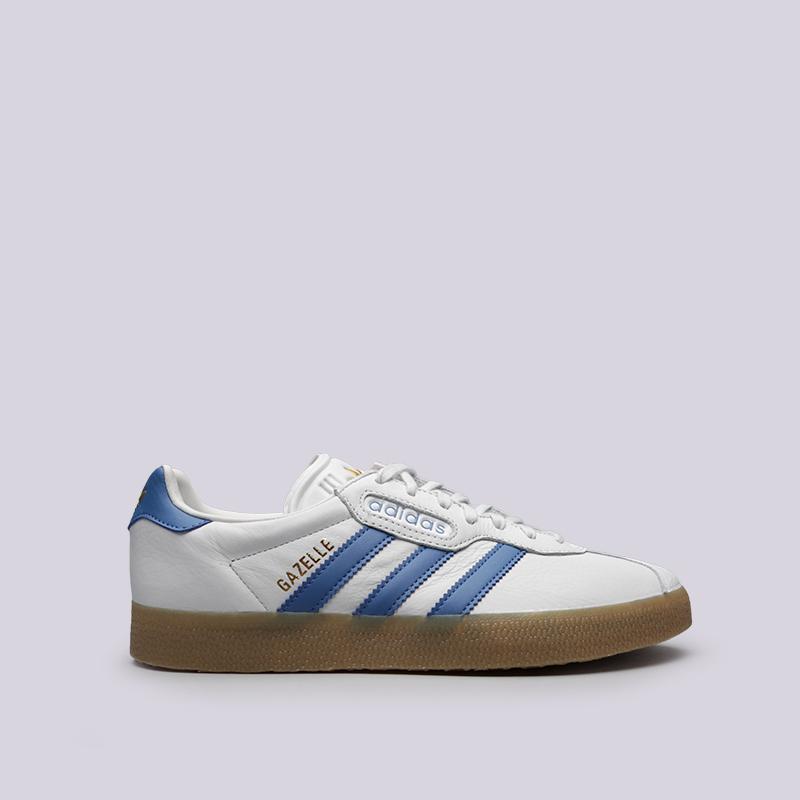 мужские белые кроссовки adidas gazelle super CQ2798 - цена, описание, фото 1 d776b155154