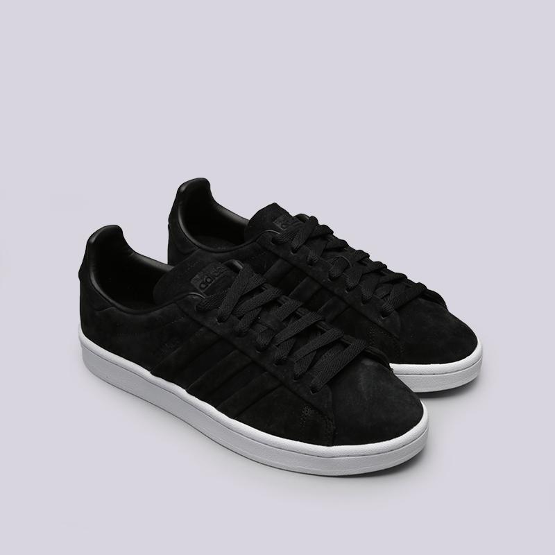 мужские чёрные  кроссовки adidas campus stitch and turn BB6745 - цена, описание, фото 2