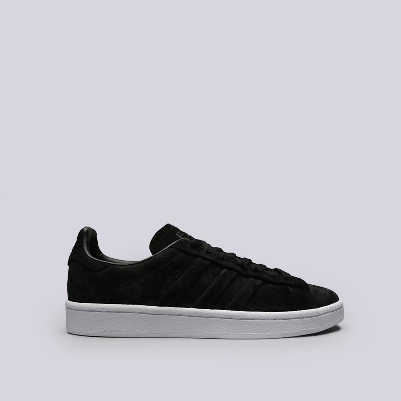 мужские чёрные  кроссовки adidas campus stitch and turn BB6745 - цена, описание, фото 1