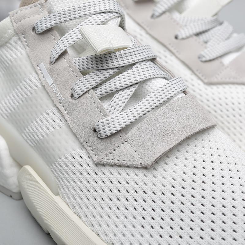 мужские белые  кроссовки adidas pod-s3.1 B28089 - цена, описание, фото 5