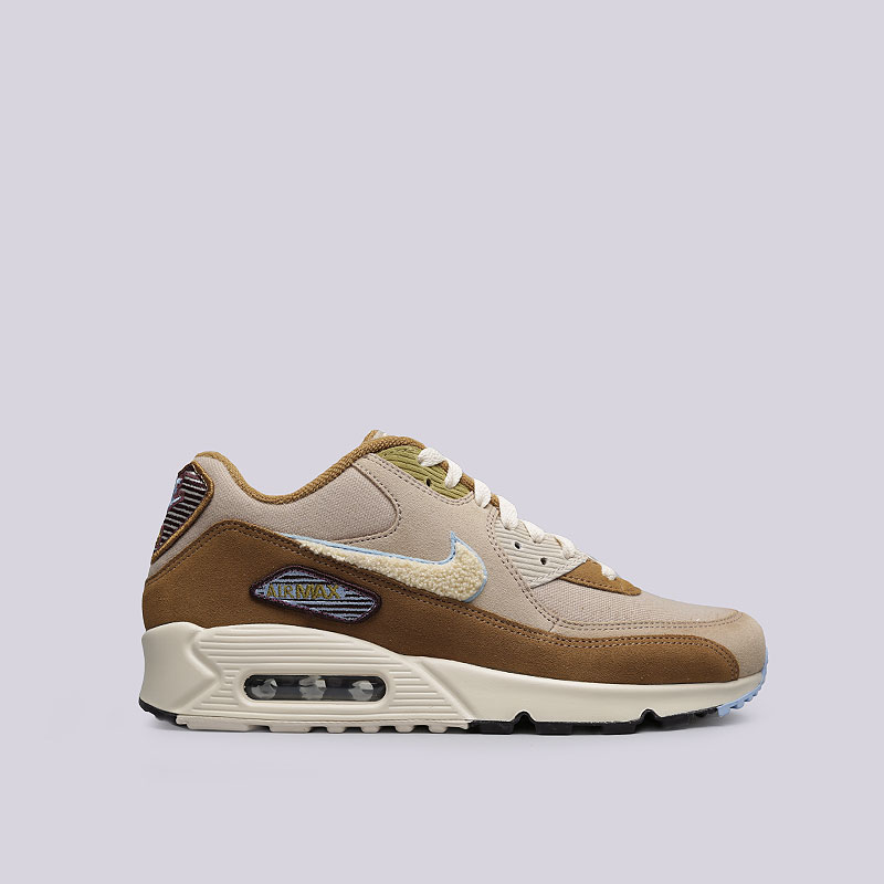 589d92fcc678eb мужские бежевые, коричневые кроссовки nike air max 90 premium se 858954-200  - цена