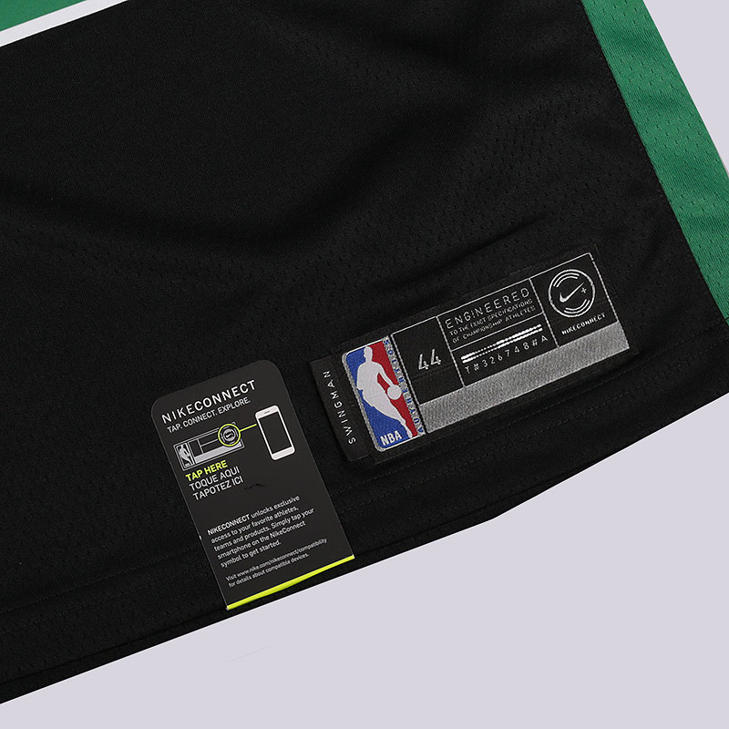 мужскую черную, зеленую  майку nike nba connected jersey statement edition swingman jersey 877198-014 - цена, описание, фото 3