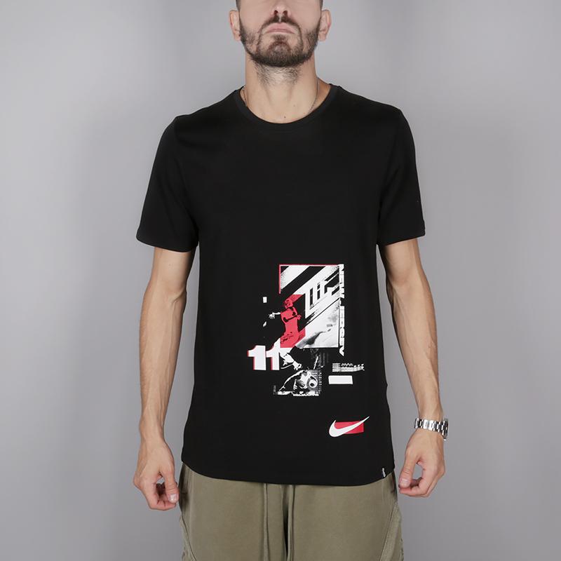 мужскую чёрную  футболка nike kyrie irving 923689-010 - цена, описание, фото 1