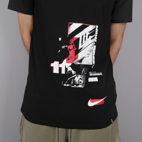 мужскую чёрную  футболка nike kyrie irving 923689-010 - цена, описание, фото 2