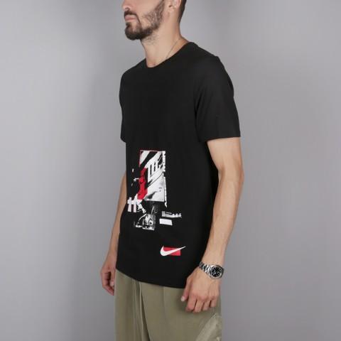 мужскую чёрную  футболка nike kyrie irving 923689-010 - цена, описание, фото 3