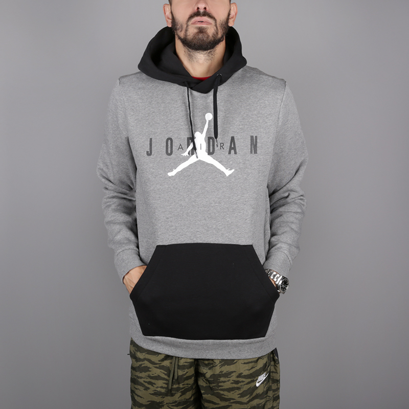 мужскую серую толстовка jordan jumpman air fleece pullover AA1451-091 -  цена, описание, 2a4015dd7e3