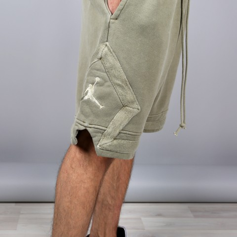 мужские зелёные  шорты jordan jsw washed diamond fleece 939960-395 - цена, описание, фото 4