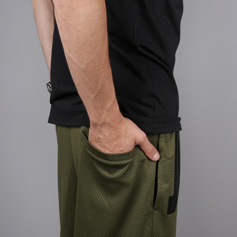 мужские зелёные  шорты jordan jumpman air mesh AA4607-395 - цена, описание, фото 5