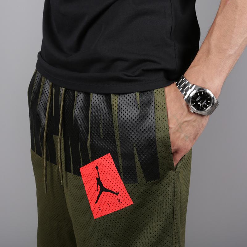 мужские зелёные  шорты jordan jumpman air mesh AA4607-395 - цена, описание, фото 3