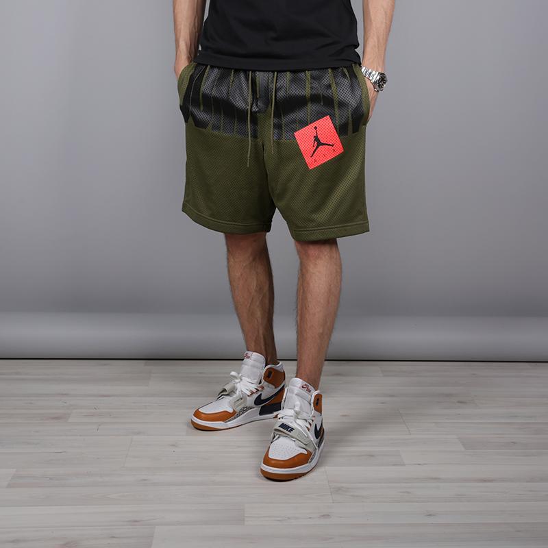 мужские зелёные  шорты jordan jumpman air mesh AA4607-395 - цена, описание, фото 1
