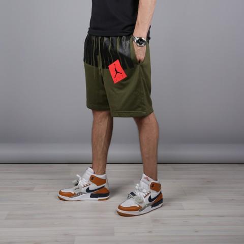 мужские зелёные  шорты jordan jumpman air mesh AA4607-395 - цена, описание, фото 2