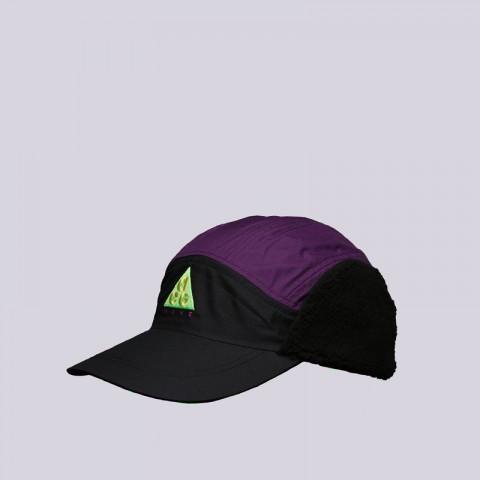 мужскую фиолетовую, чёрную  кепка nike acg cap AR0497-011 - цена, описание, фото 2