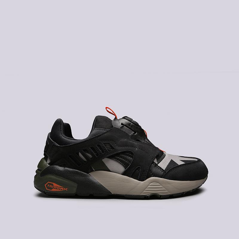 мужские черные, зеленые, бежевые кроссовки puma disc blaze camo 36683001 -  цена, описание 9ca7dfe6455