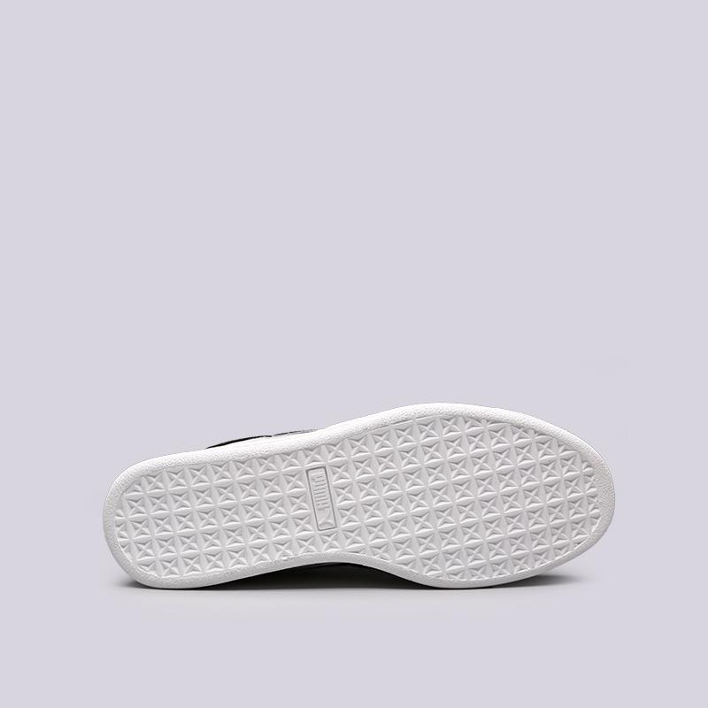мужские чёрные, серые  кроссовки puma suede classic x stampd 36632701 - цена, описание, фото 2