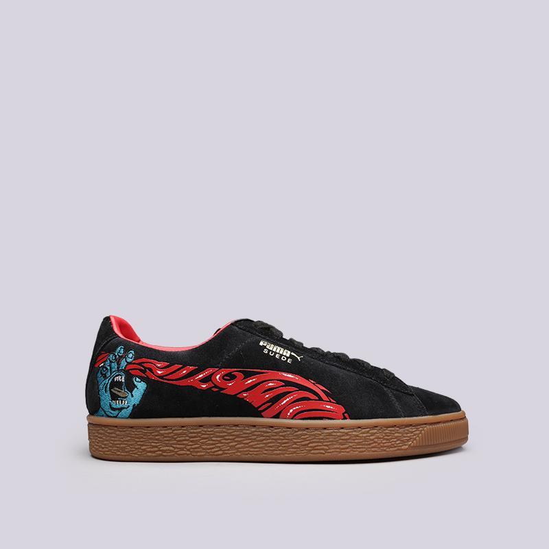9607982e85e8 мужские чёрные кроссовки puma suede classic x santa cruz 36632101 - цена,  описание, фото