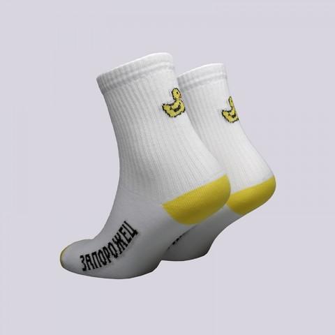 женские белые  носки запорожец heritage утёнок Утенок-бел/жел - цена, описание, фото 2
