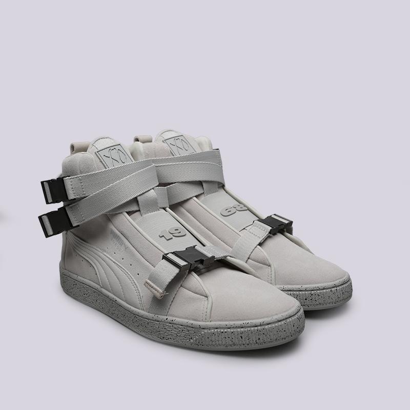 мужские серые  кроссовки puma suede classic x theweeknd 36631002 - цена, описание, фото 3