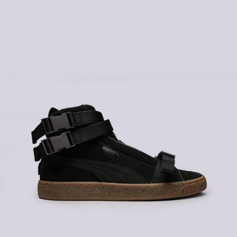 мужские чёрные  кроссовки puma suede classic x theweeknd 36631001 - цена, описание, фото 1