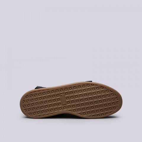 мужские чёрные  кроссовки puma suede classic x theweeknd 36631001 - цена, описание, фото 2