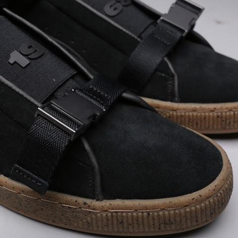 мужские чёрные  кроссовки puma suede classic x theweeknd 36631001 - цена, описание, фото 4