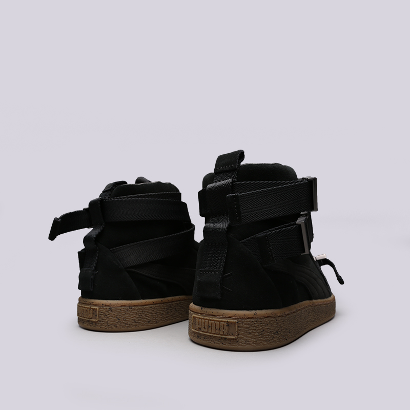 мужские чёрные  кроссовки puma suede classic x theweeknd 36631001 - цена, описание, фото 6