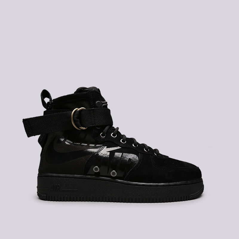 9ac3e63ef67e мужские чёрные кроссовки nike sf air force 1 mid 917753-008 - цена, описание